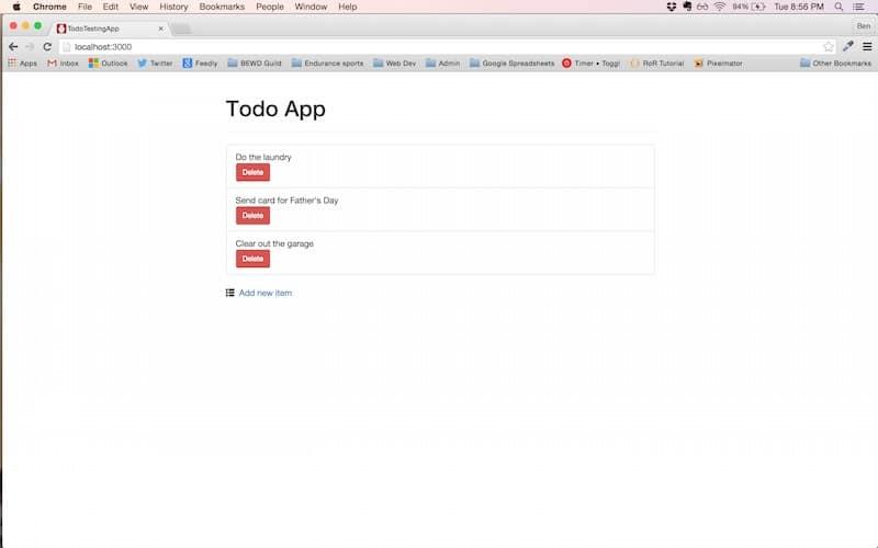 Todo app screenshot