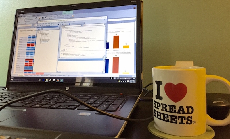 Spreadsheet tea mug