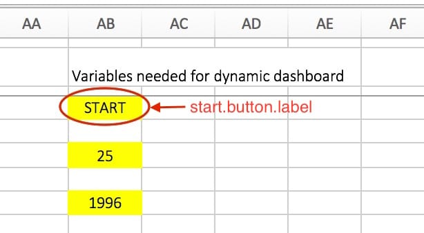 VBA Start Button label