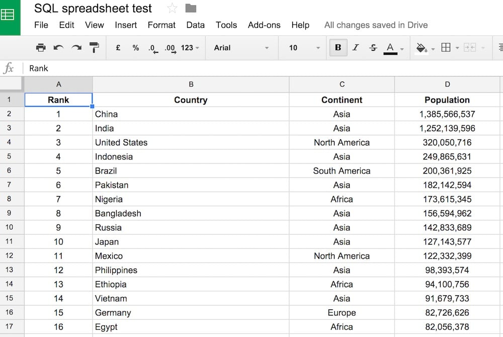 Google Sheets QUERY function data