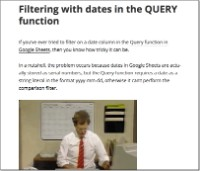 Use dates in the query function
