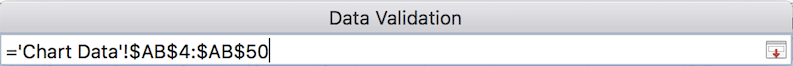 Data validation select data