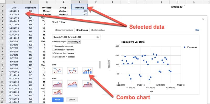 Select combo chart