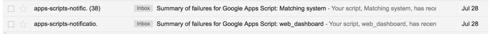 Apps Script error