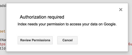 Review permissions
