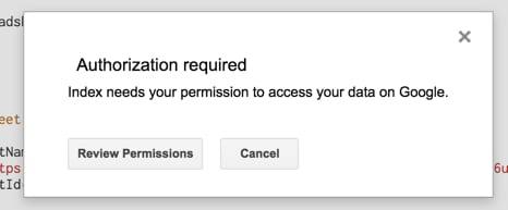 Review permissions