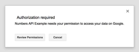 Apps Script Review Permissions