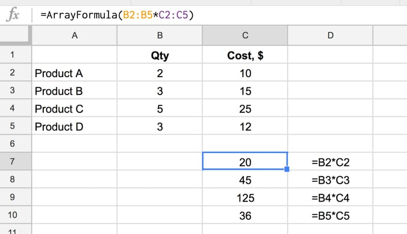 How do array formulas work in Google Sheets? Get the lowdown