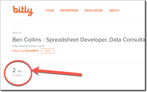 Bitly link metric data for import to Google Sheets