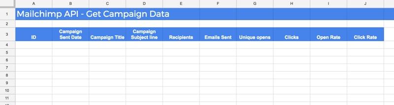 Google Sheet Setup