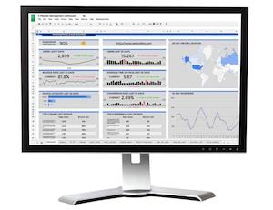 Digital marketing dashboard in Google Sheets