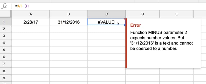 Value error caused by dates