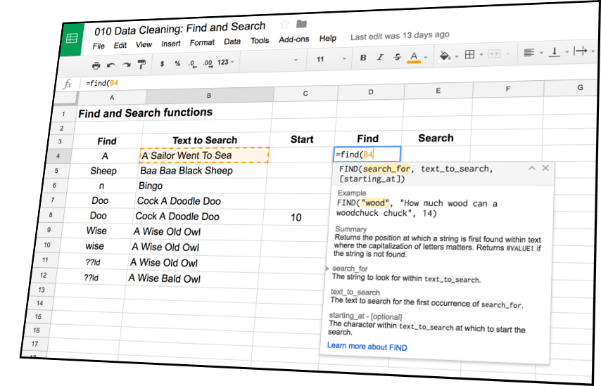 Data Cleaning and Pivot Tables in Google Sheets Course