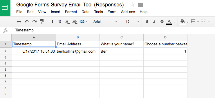 Google Form Sheet
