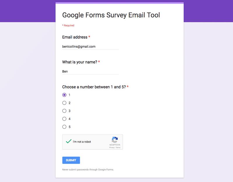 Finished Google Form