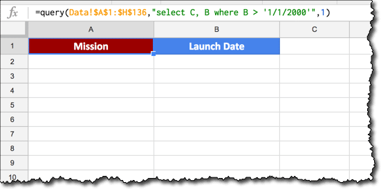 Filtering with dates in the QUERY function - Ben Collins