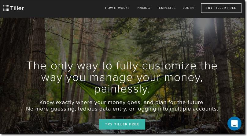 Tiller Home page