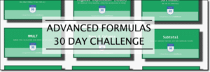 Advanced Formulas 30 Day Challenge