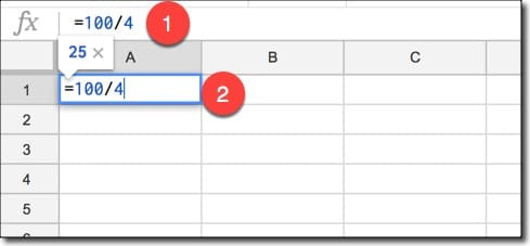 Google Sheets calculation