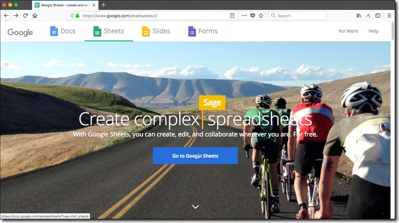 How to use Google Sheets: Start screen