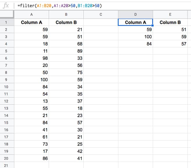Learn to use the powerful Google Sheets FILTER function