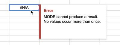 mode function error