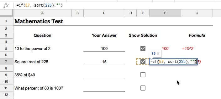 Show answers with checkboxes