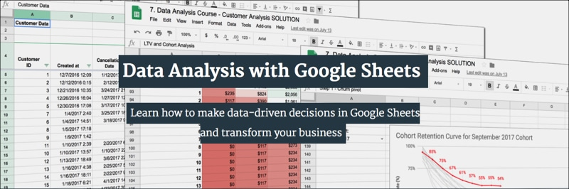 Data Analysis with Google Sheets course