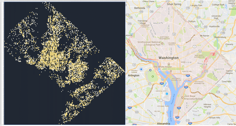 Pivot Table Map of Washington DC