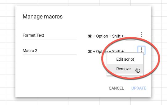remove macro