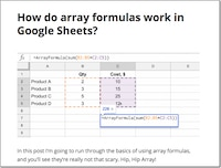 Array Formulas in Google Sheets