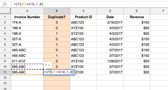 How to remove duplicates in Google Sheets using an IF formula