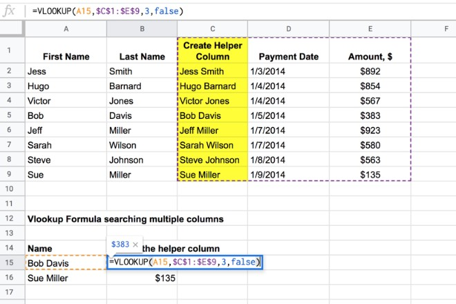 Vlookup into multiple columns in Google Sheets