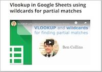 Vlookup wildcard in google sheets