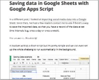 Save Data with Apps Script