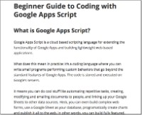 Beginner guide to Apps Script