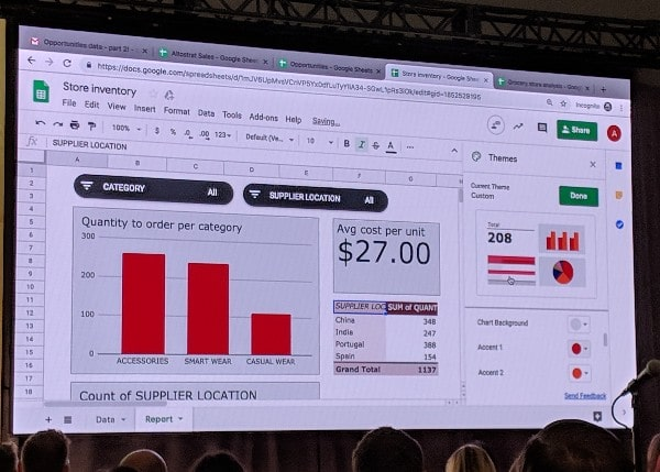 Google Sheets Reports feature