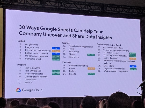 Google Sheets announcements