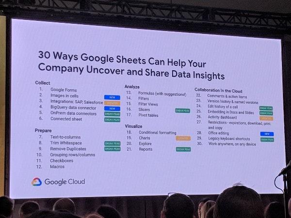 Google Sheets announcements
