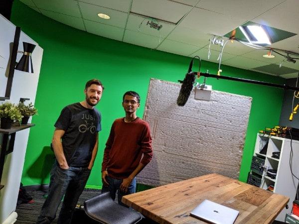 In the studio with the Data Studio team
