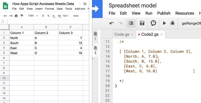 Google Apps Script data
