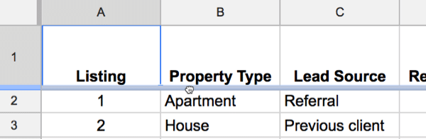 Freeze panes in Google Sheets 3