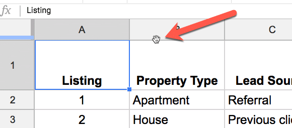 Freeze panes in Google Sheets 1