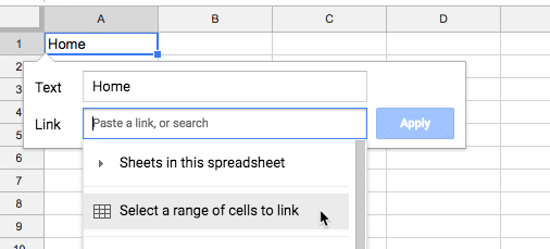Hyperlink in Google Sheets
