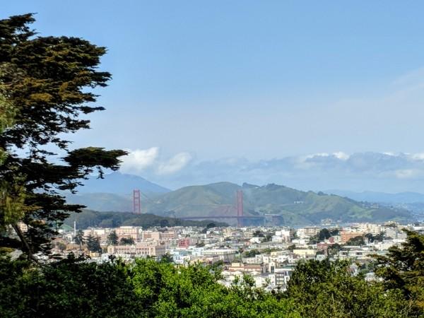 Golden Gate Bridge from Buena Vista park