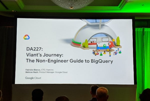 Google Next 19 BigQuery session