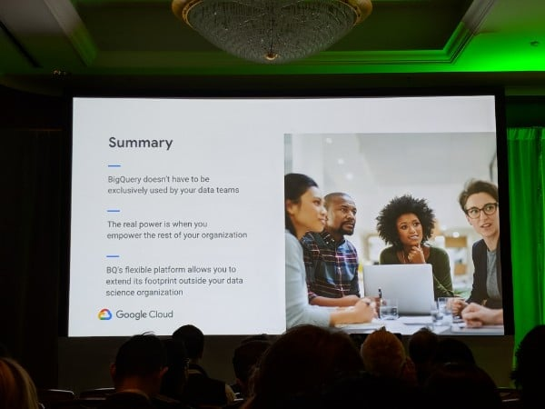 Google Next 19 BigQuery session