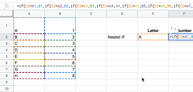 Google Sheets Function highlighting