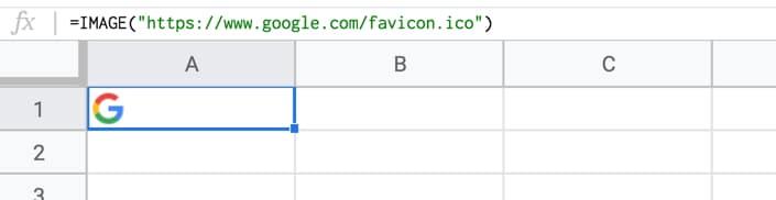 Google Sheets Image Formula