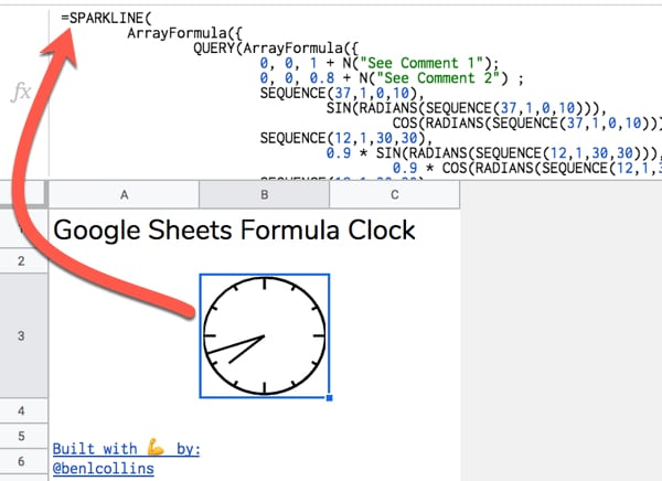 Google Sheets Formula Clock